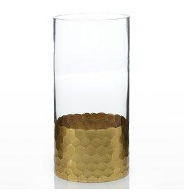 """Oak + Arrow Interiors Elsa Gold Vase 3.75"""" x 8"""""""