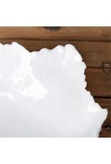 Large White Freeform Ceramic Bowl