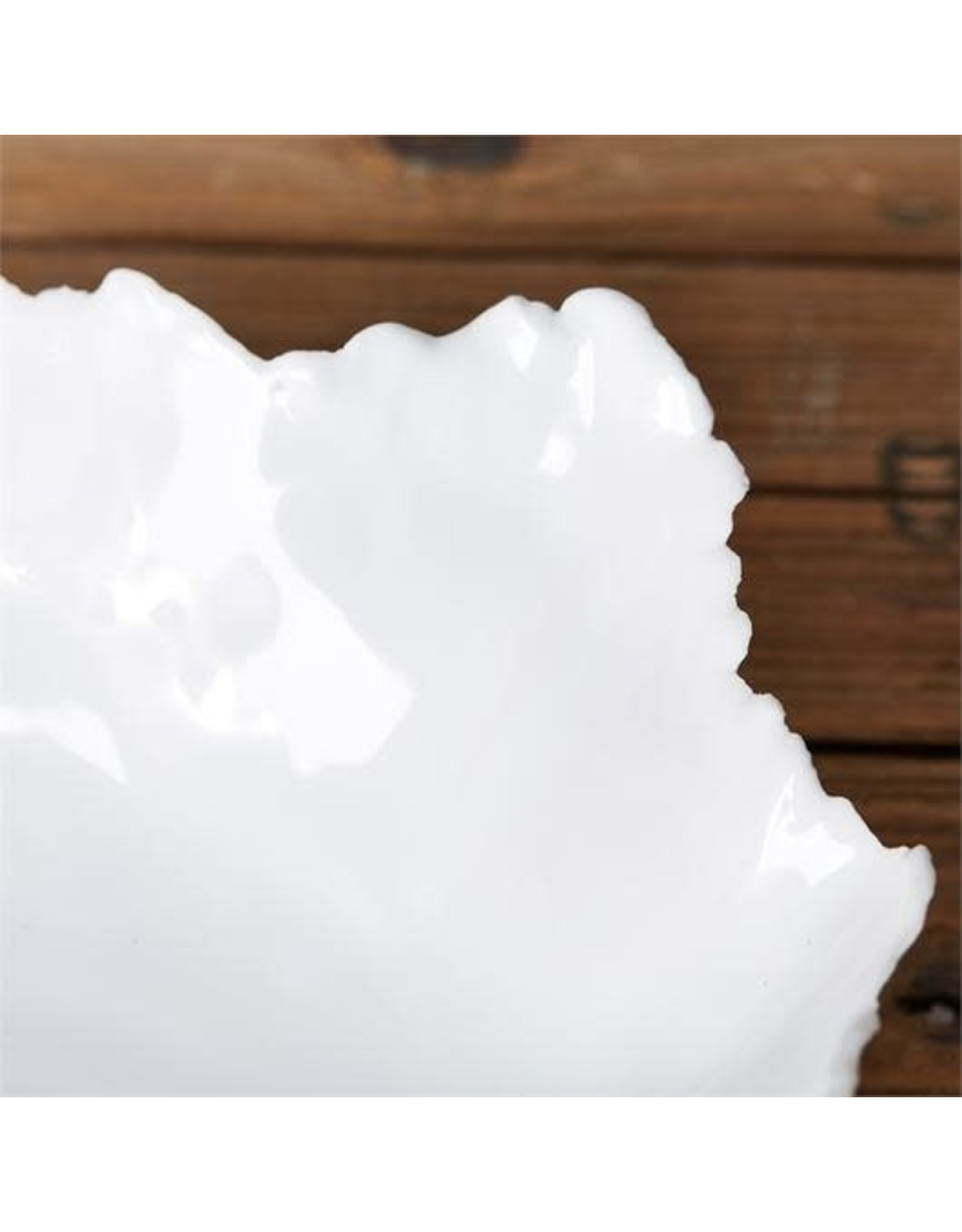 Large White Freeform Ceramic Bowl