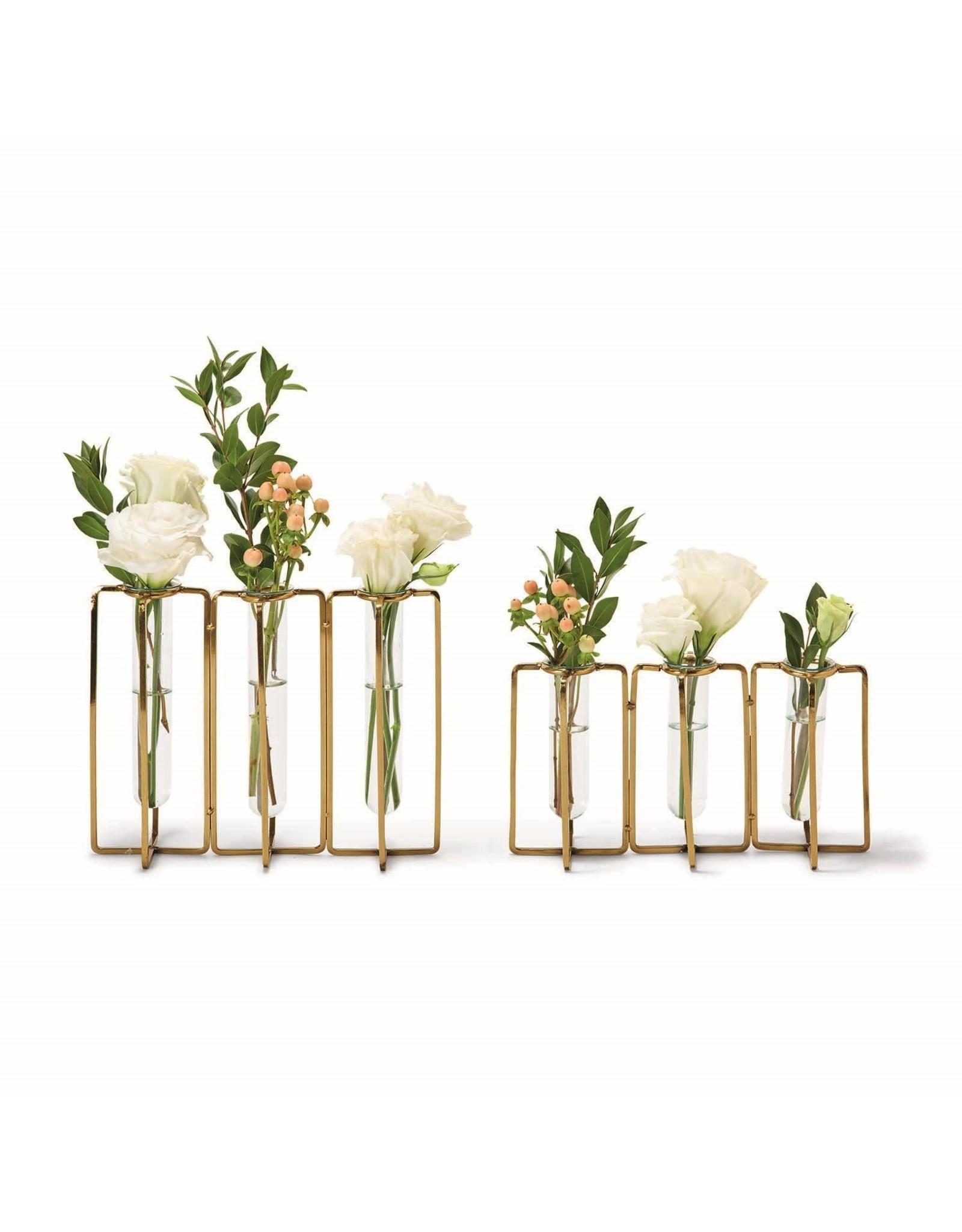 Oak + Arrow Interiors Large Golden Flower Vases