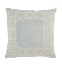 "Oak + Arrow Interiors Mezza Pillow Blue 22""x22"""