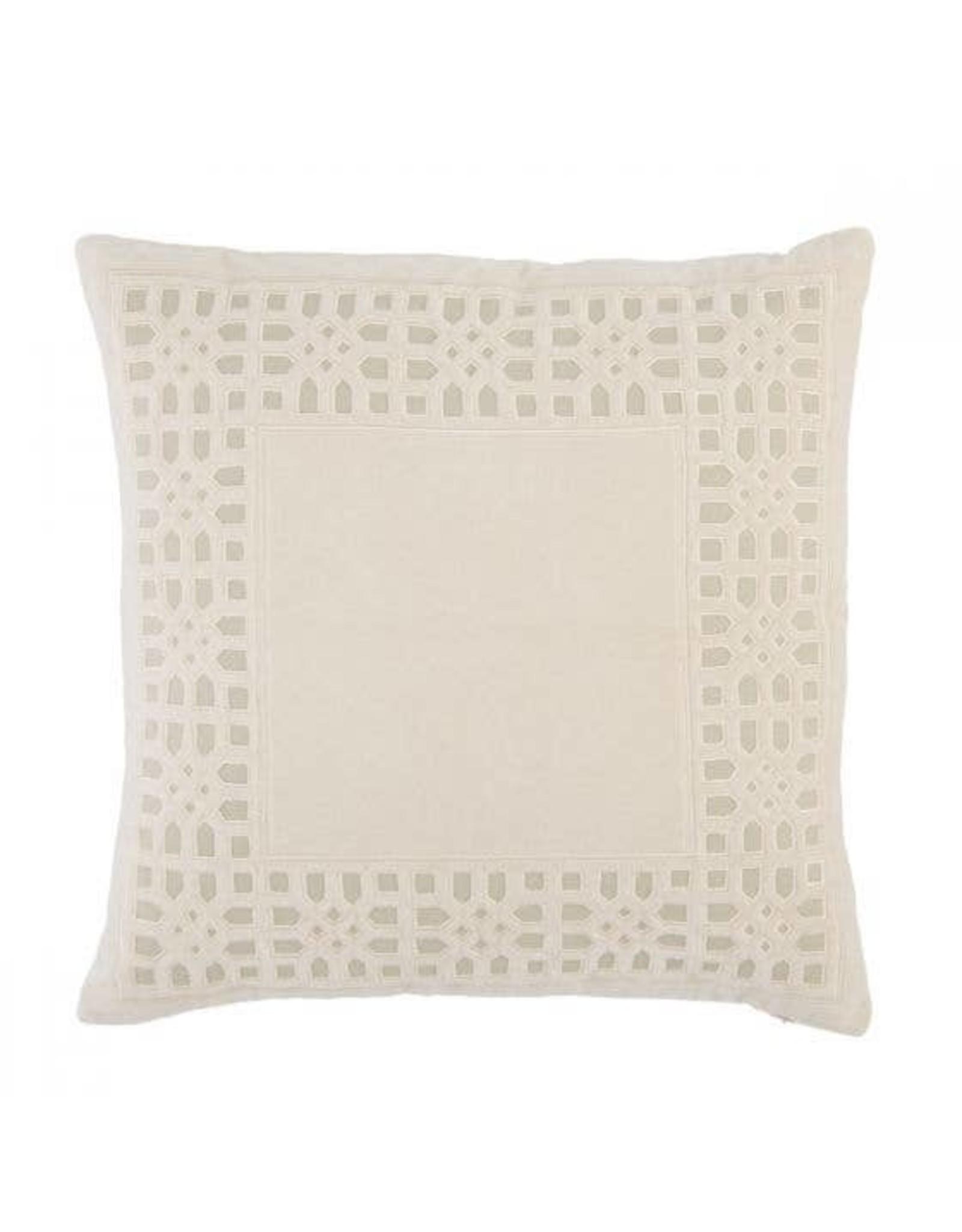 "Oak + Arrow Interiors Mezza Pillow Blush 22""x22"""