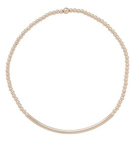 Oak + Arrow Interiors Classic Gold 2mm Bead Bracelet - Bliss Bar Gold