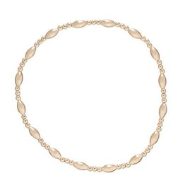 Oak + Arrow Interiors Harmony Sincerity Pattern 2mm Bead Bracelet - Gold