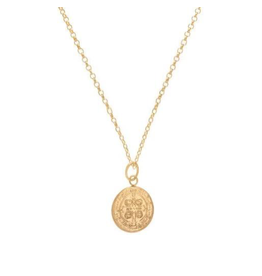 "Oak + Arrow Interiors 16"" Necklace Gold - Blessing Small Gold Charm"