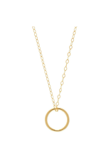 "Oak + Arrow Interiors 16"" Necklace Gold - Halo Gold Charm"