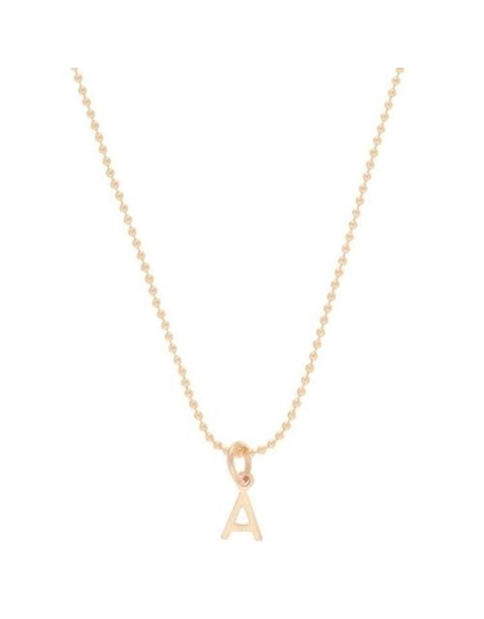 """Oak + Arrow Interiors Letter L - 16"""" Necklace Gold - Respect Gold Charm"""
