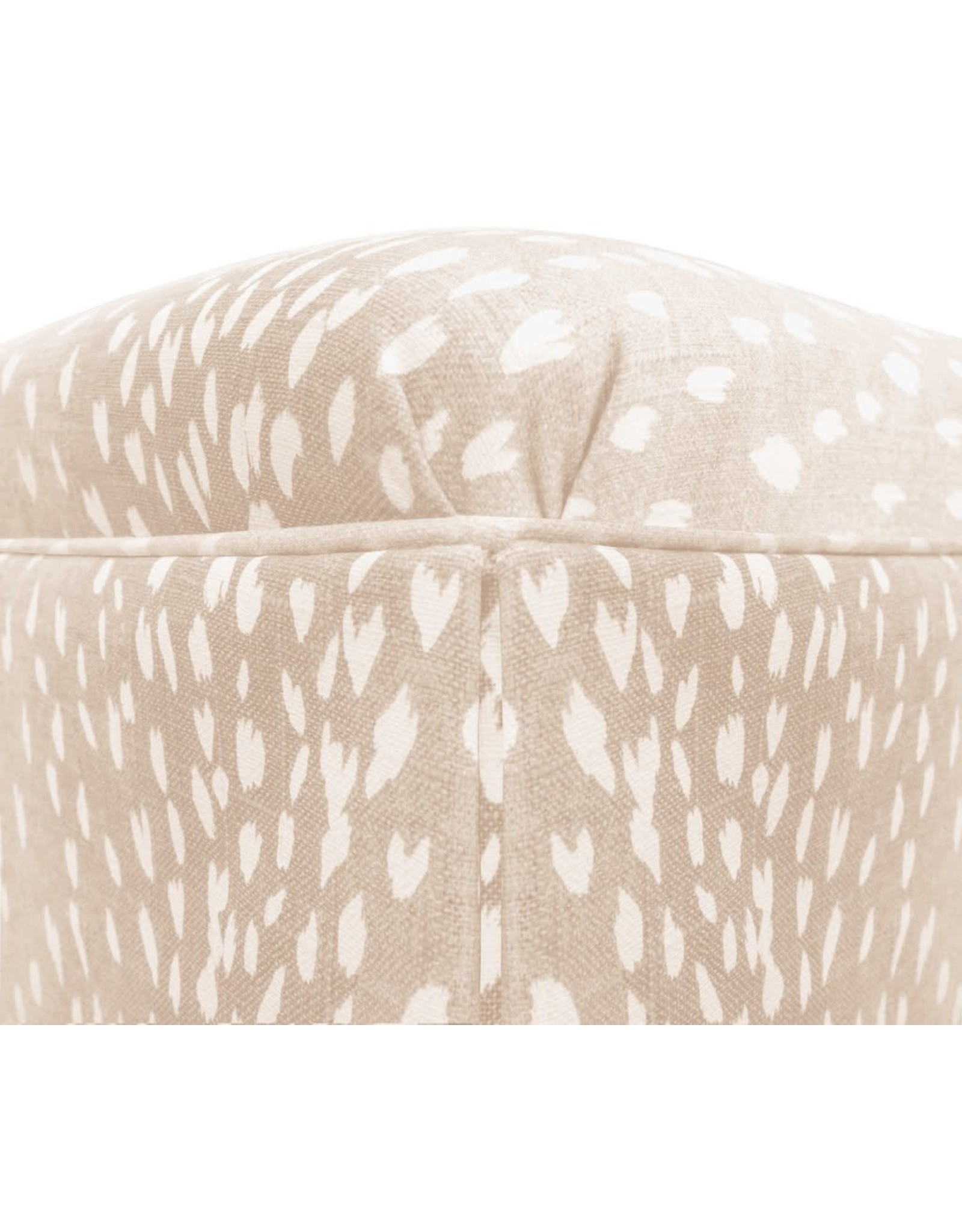 Oak + Arrow Interiors The Skirted Ottoman : Antelope Linen Print