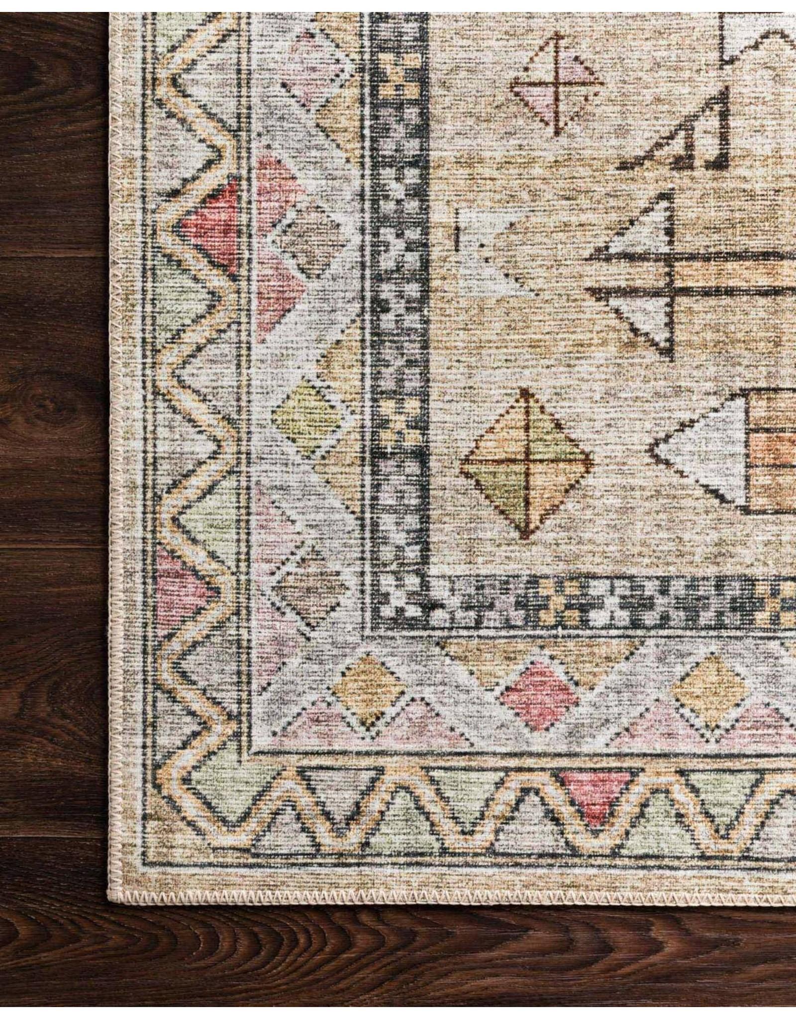 "Oak + Arrow Interiors SKYE Gold / Blush 2'3"" x 3'9"""