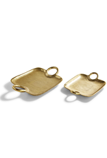 Large Metropolitan Decorative Gold Tray with Handles