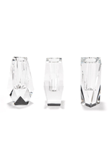 Faceted Hand-Cut Crystal Glass Bud Vases
