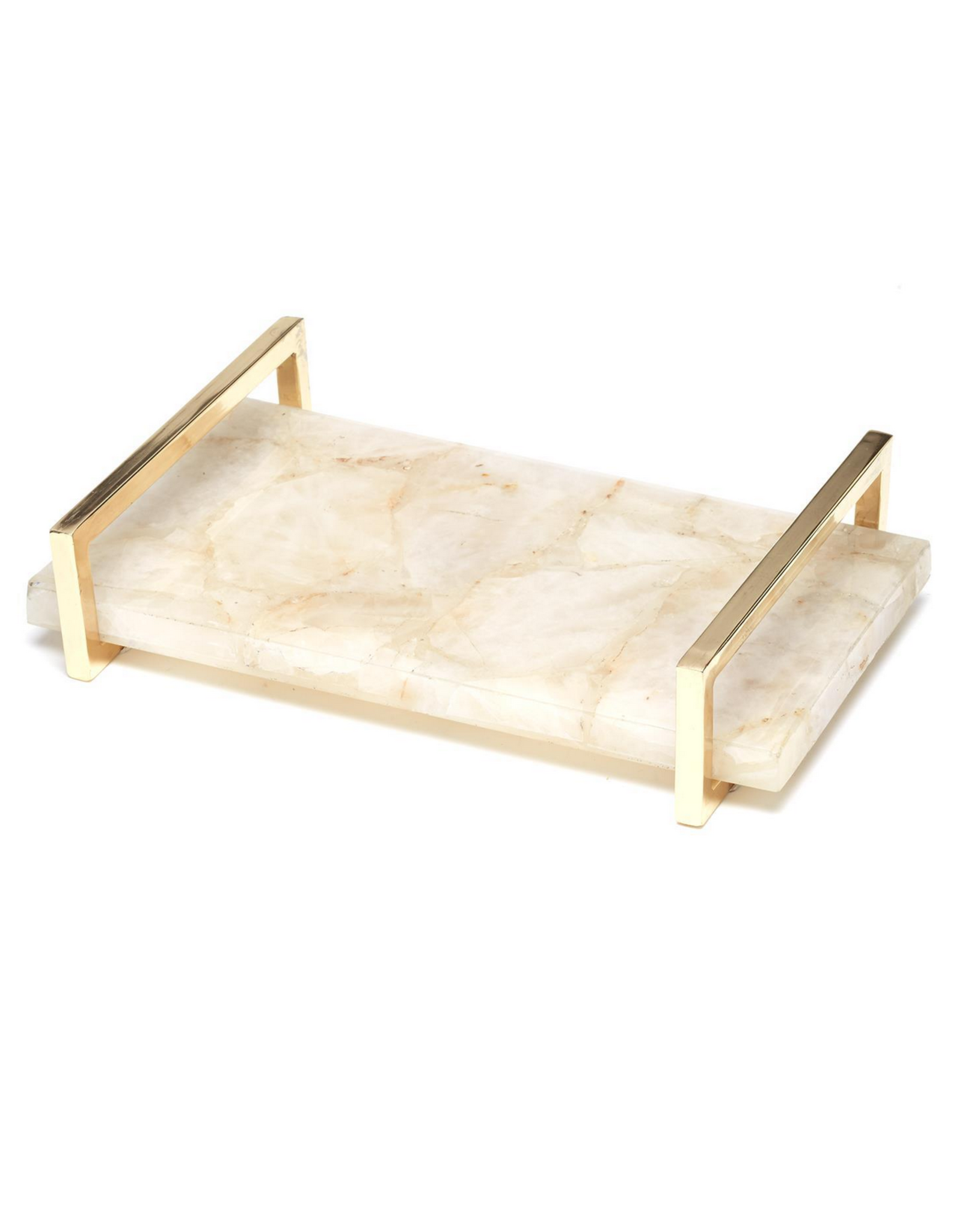 White Quartz Decorative Tray