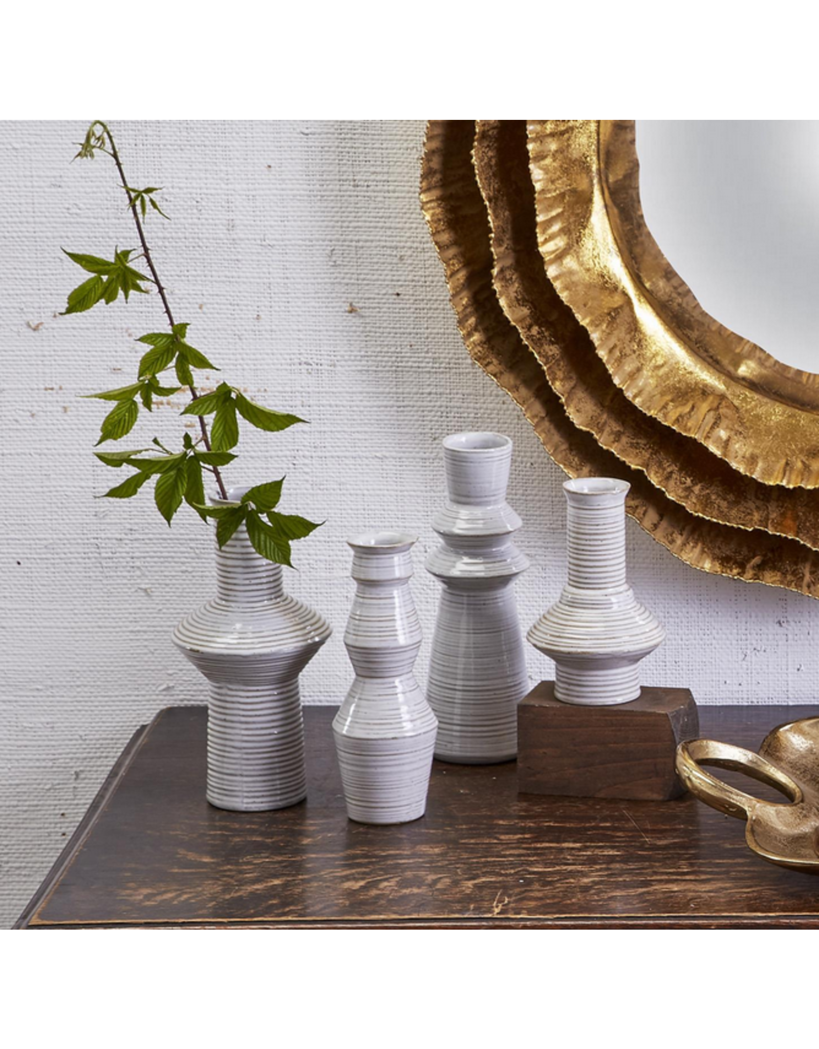 Oak + Arrow Interiors Horizontal Striped Vase Large 3