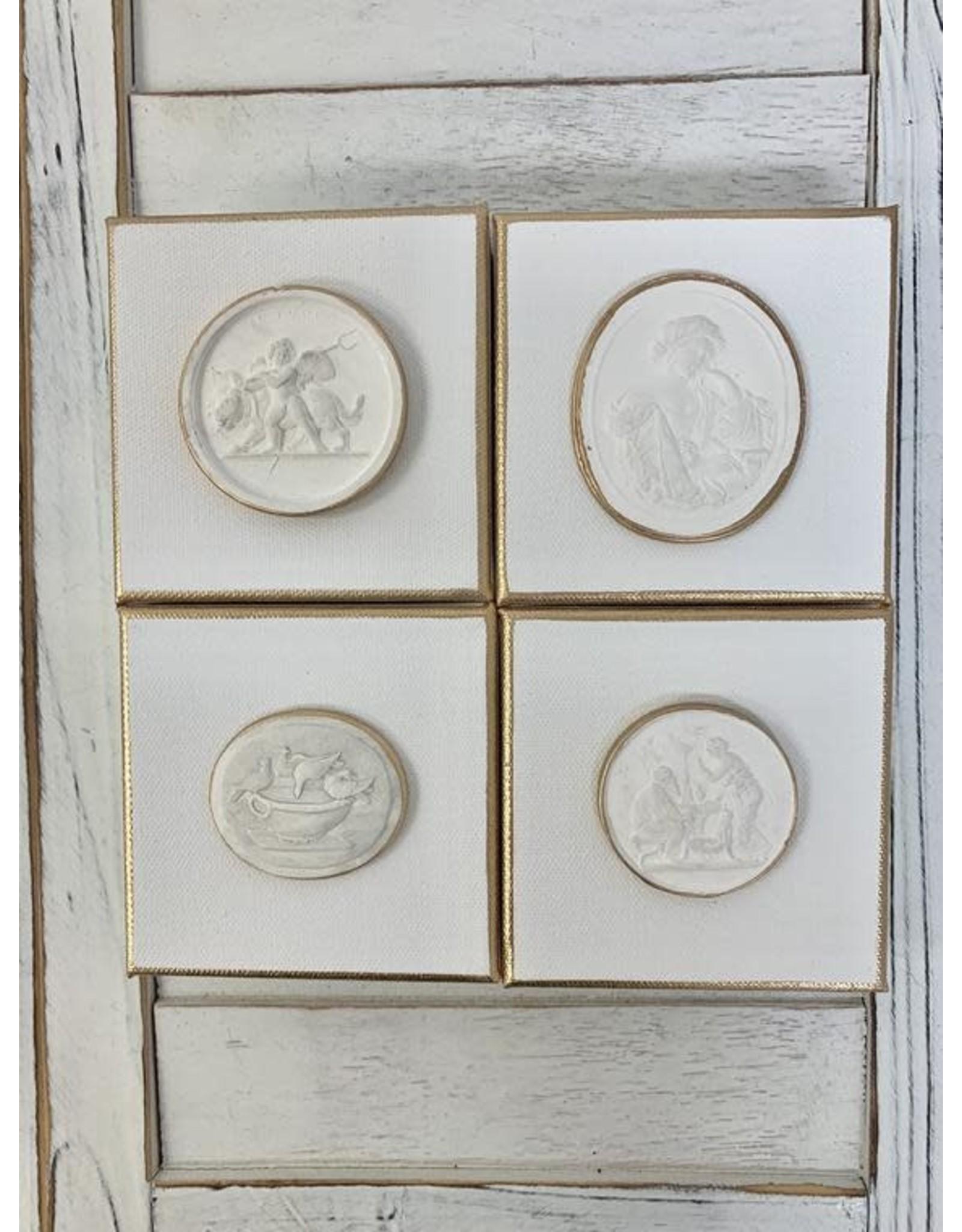 Oak + Arrow Interiors 4x4 white intaglios