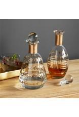Oak + Arrow Interiors Gold Etched Glass Decanter