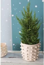 """Oak + Arrow Interiors Felt Pom Pom Pot Cover 11"""" x 10.25"""""""