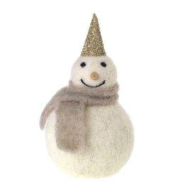 "Oak + Arrow Interiors Felt Frosty Figurine 3"" x 6"""