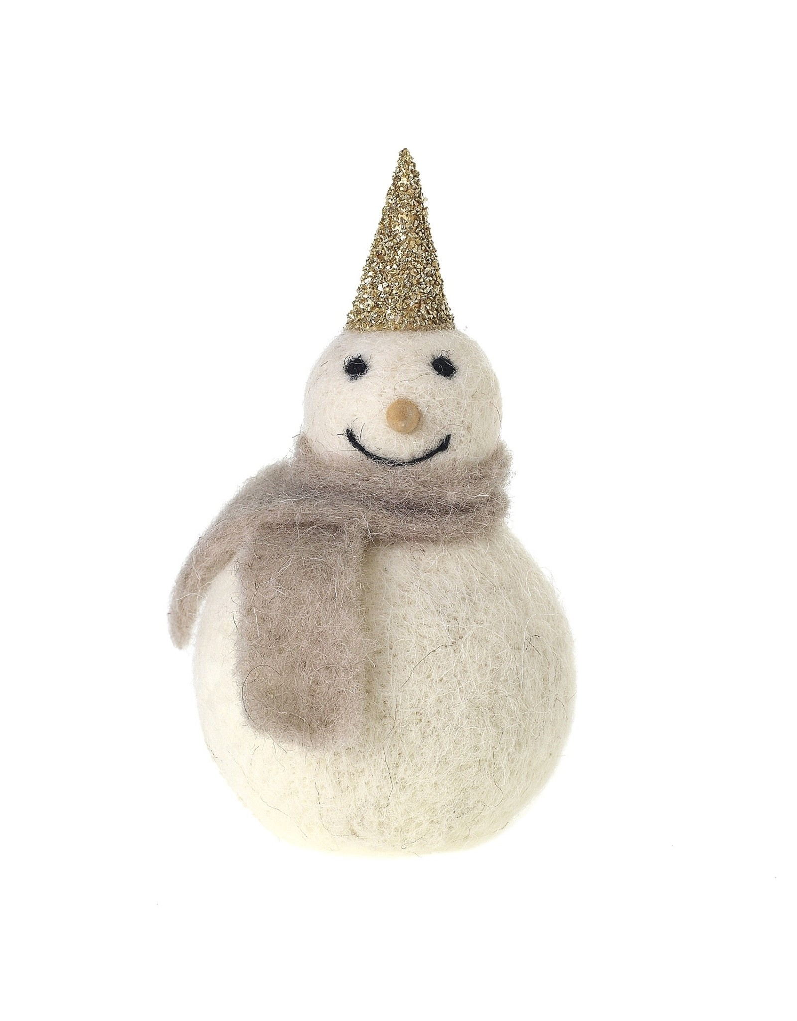 "Oak + Arrow Interiors Felt Frosty Figurine 3"" x 6"""