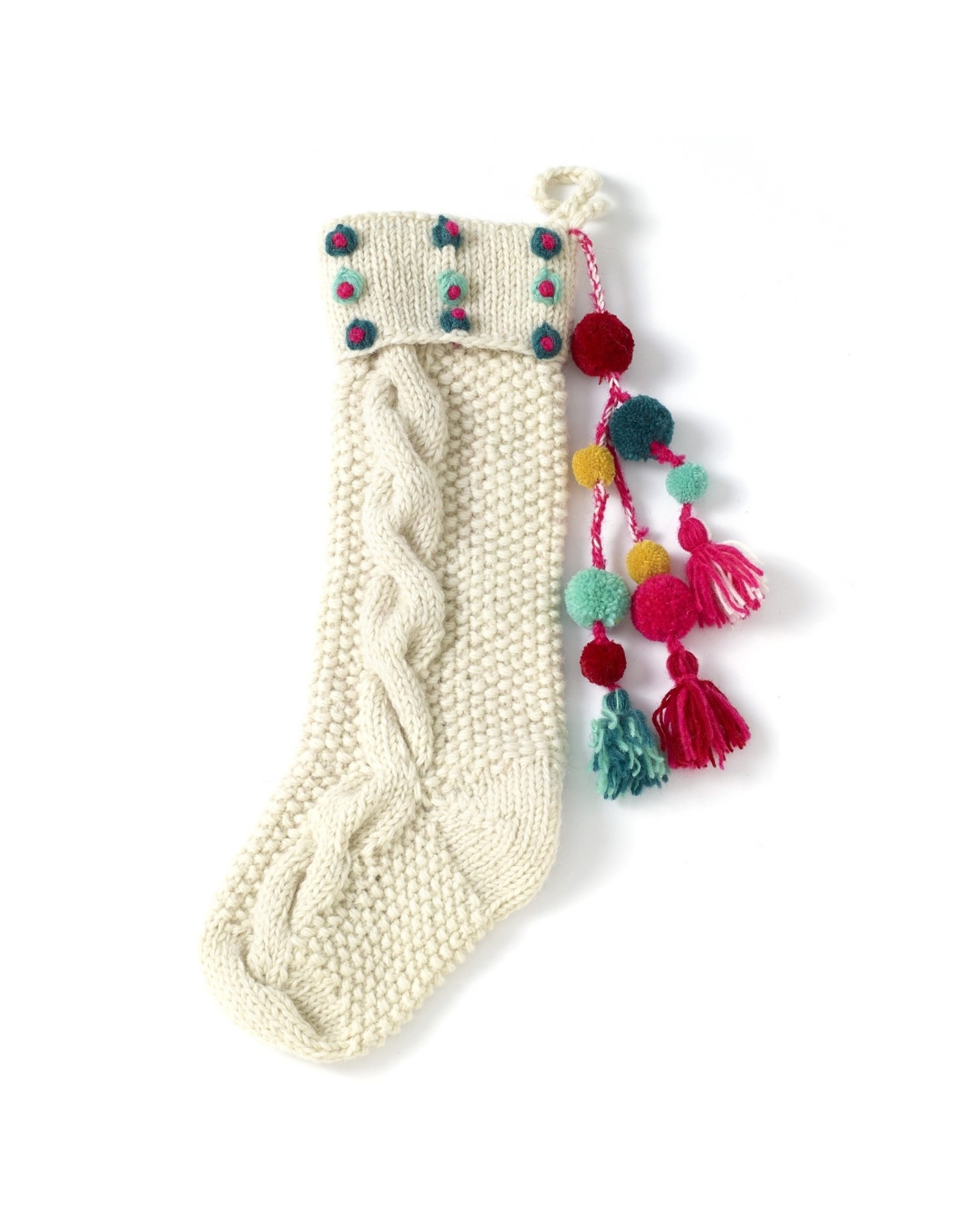 Oak + Arrow Interiors Hand Knit Stocking Multi