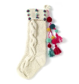 Oak + Arrow Interiors Hand Knit Stocking Multi