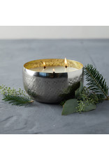 Oak + Arrow Interiors Balsam & Cedar Large Iced Metal Candle - 18 oz