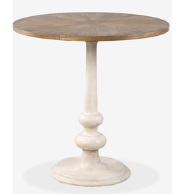 "29.5"" Perry Accent Table, Cream"
