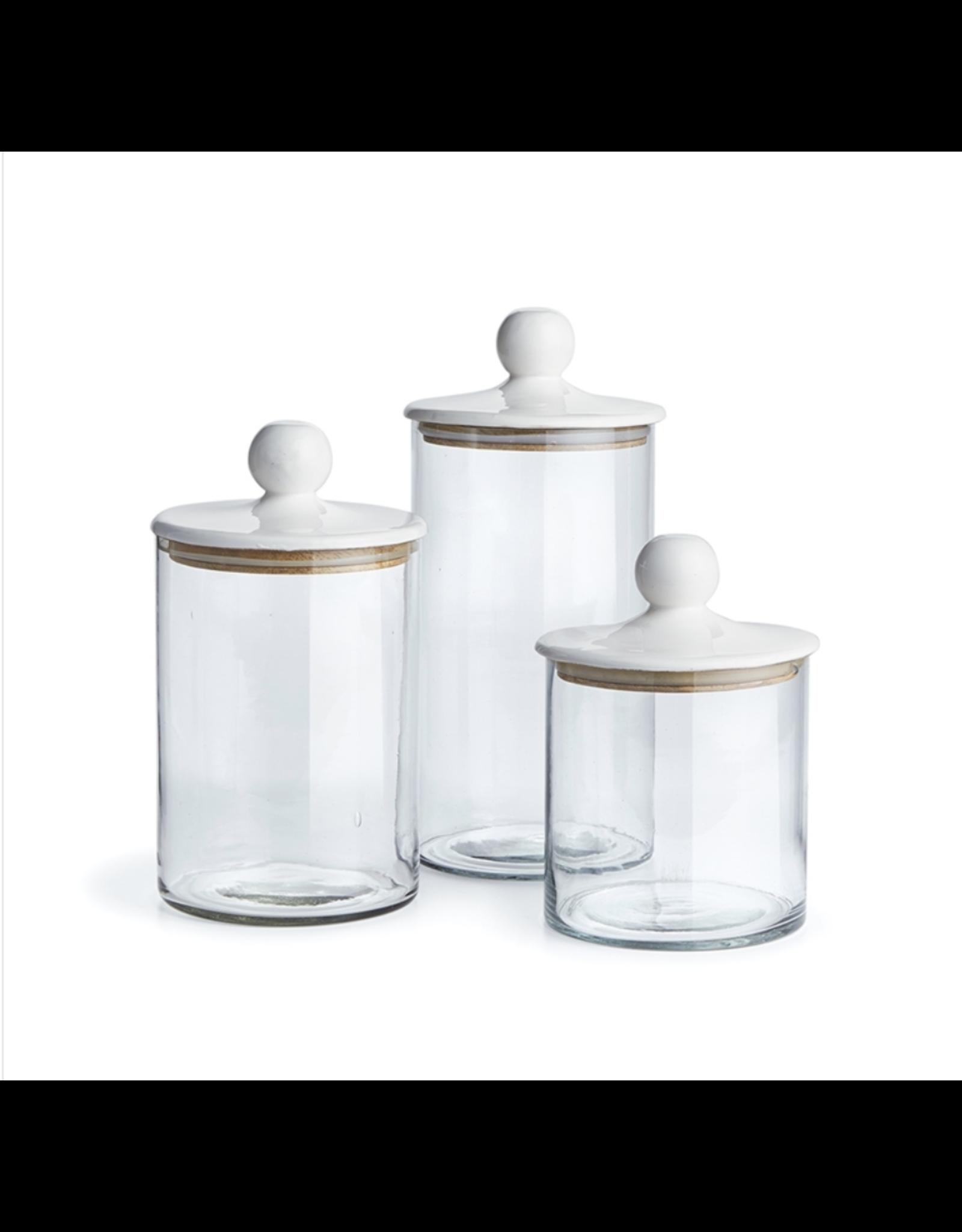 Oak + Arrow Interiors Glass Canisters - Set of 3