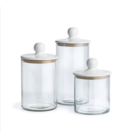 Oak + Arrow Interiors Glass Canisters - Set of 3