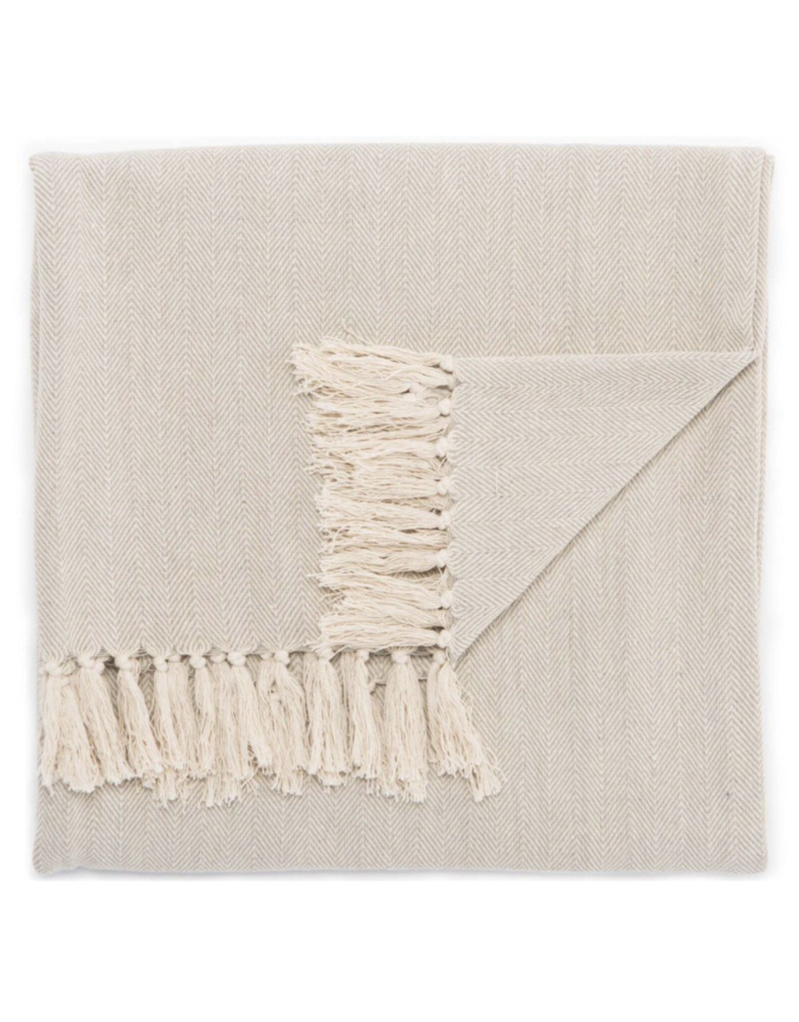 Oak + Arrow Interiors Neutral Gray / Birch Throw