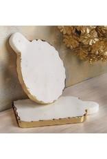 Oak + Arrow Interiors Round Gold Marble Board
