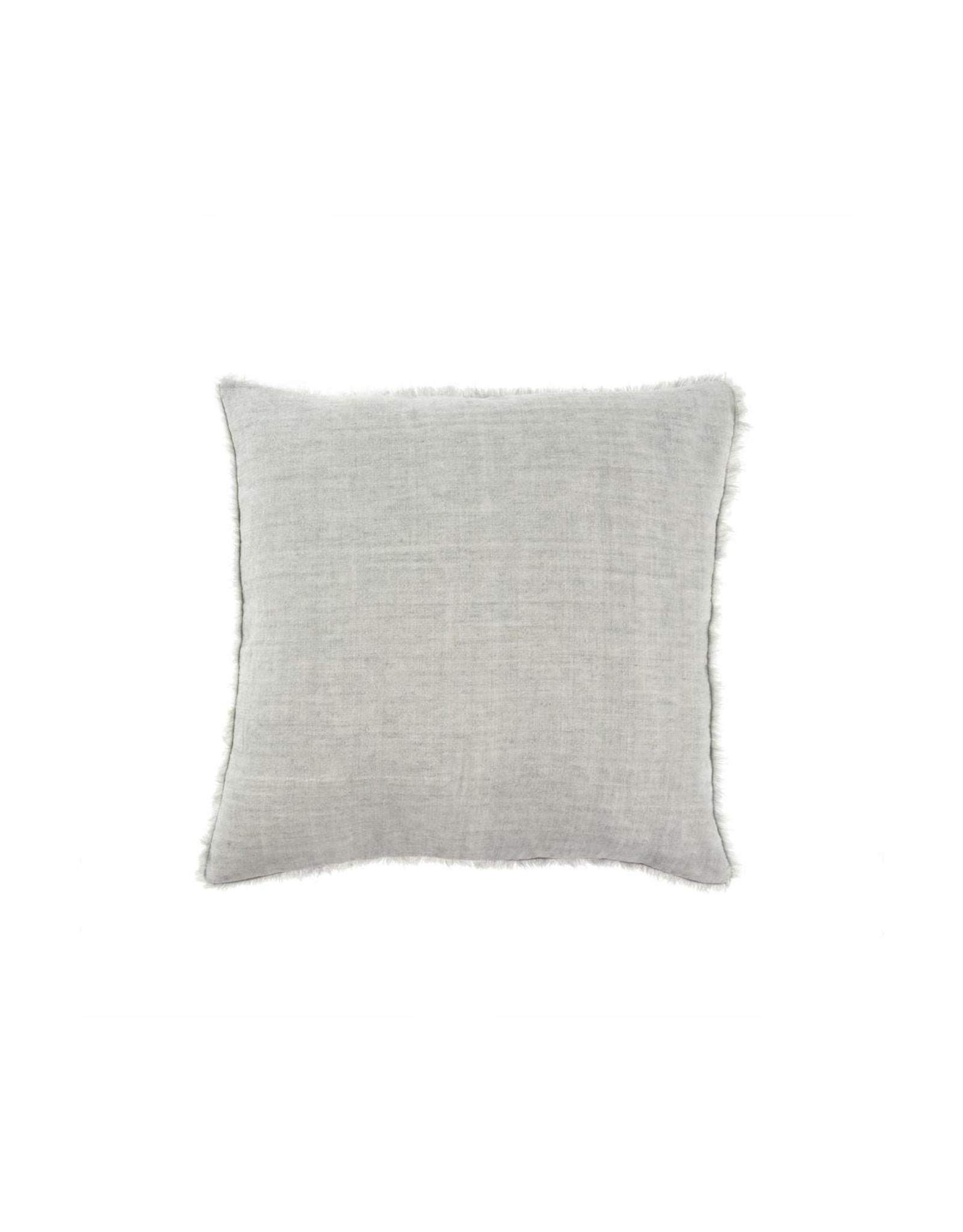 24x24 Lina Linen Pillow, Flint Gray
