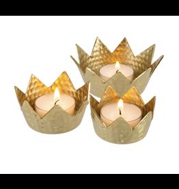 Oak + Arrow Interiors Gold Crown Votives - Set of 3