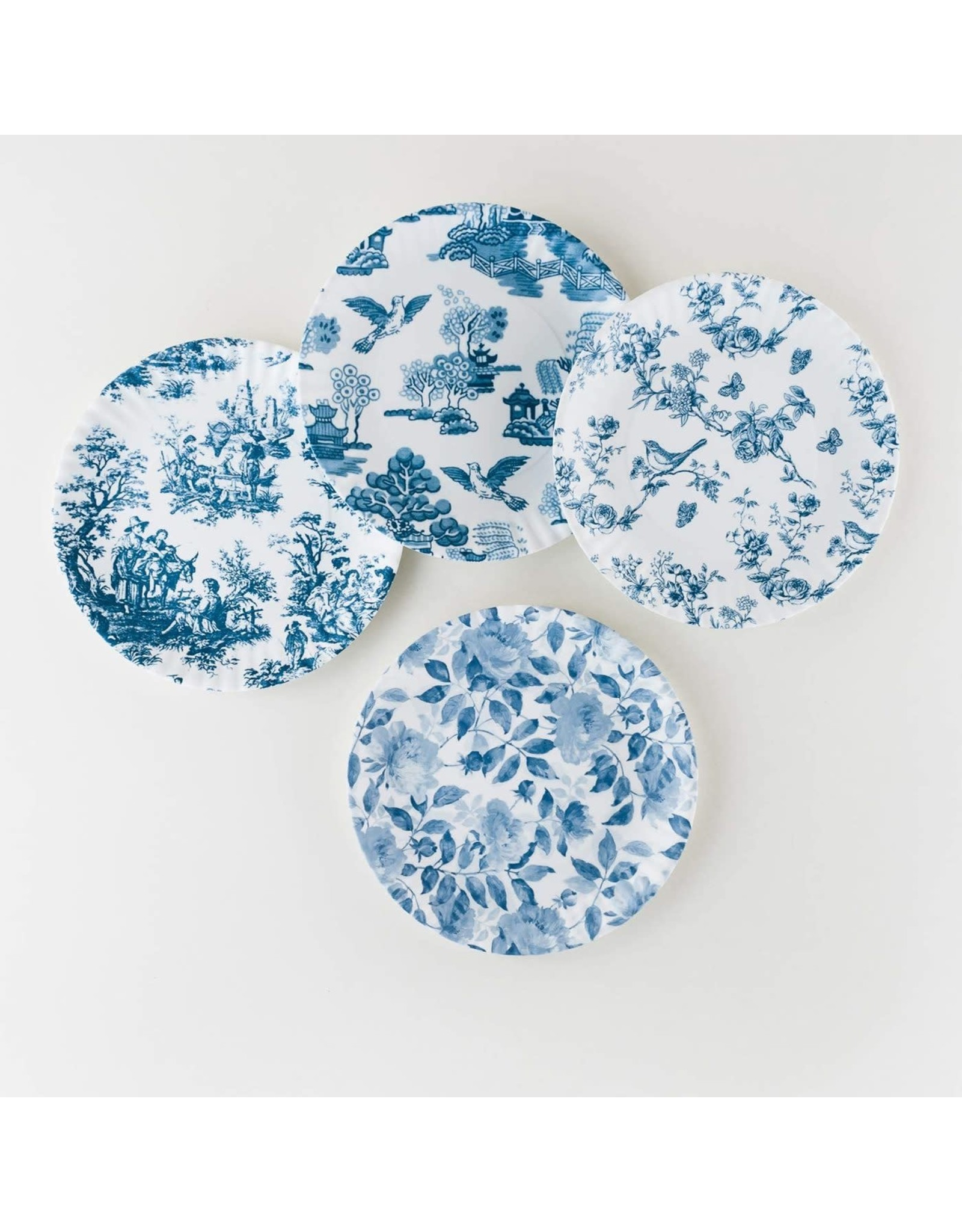 Oak + Arrow Interiors Pictorial Blue & White Plates - Set of 4