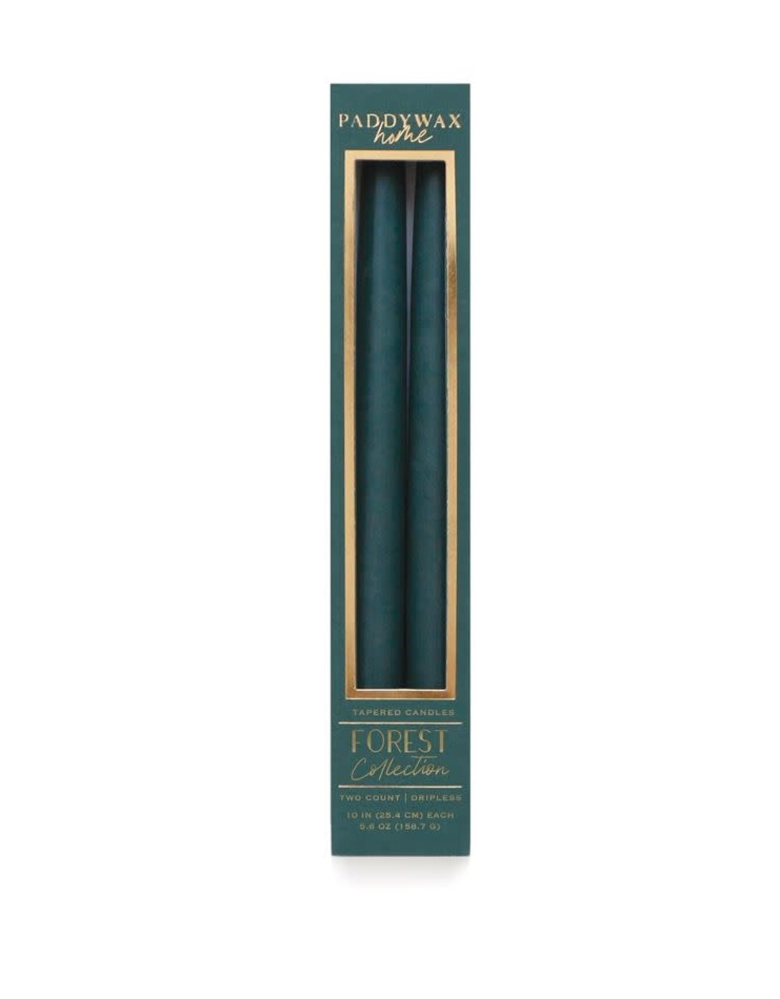 "Oak + Arrow Interiors Forest Tall Taper Candles 10"""