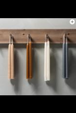 "Oak + Arrow Interiors Ivory Tall Taper Candles 10"""