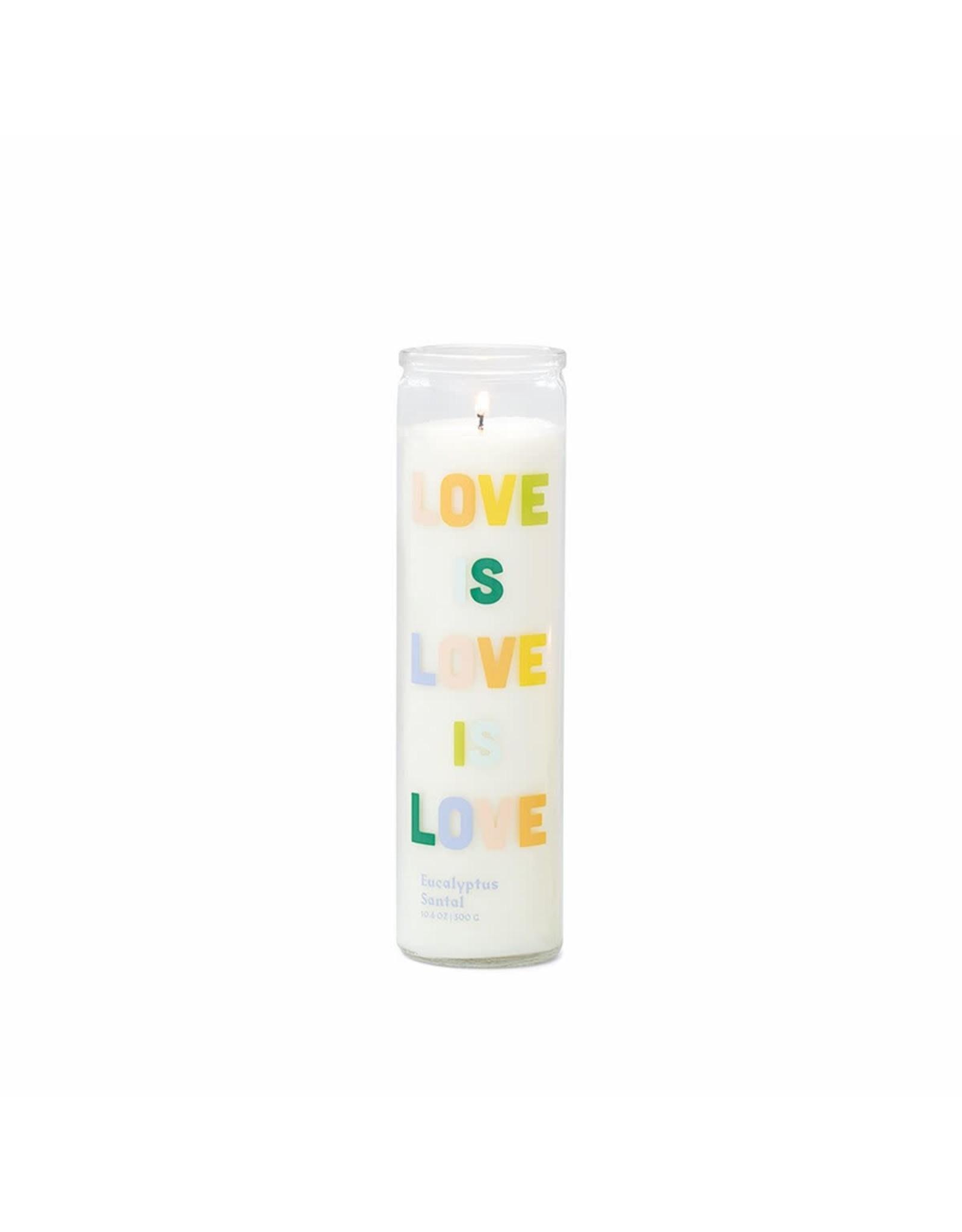 Oak + Arrow Interiors Love is Love Prayer Candle