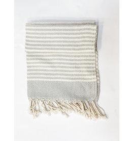 Oak + Arrow Interiors Turkish Hand Towel - Light Blue Stripes