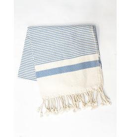 Oak + Arrow Interiors Turkish Hand Towel - Bright Blue