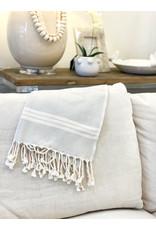 Oak + Arrow Interiors Turkish Hand Towel - Light Grey