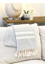 Oak + Arrow Interiors Turkish Throw Blanket - Blue Stripes