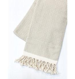 Oak + Arrow Interiors Turkish Throw Blanket - Tan Weave