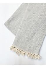 Oak + Arrow Interiors Turkish Throw Blanket - Light Blue