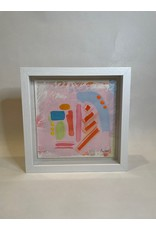 Pink Shadow Box Abstract 1