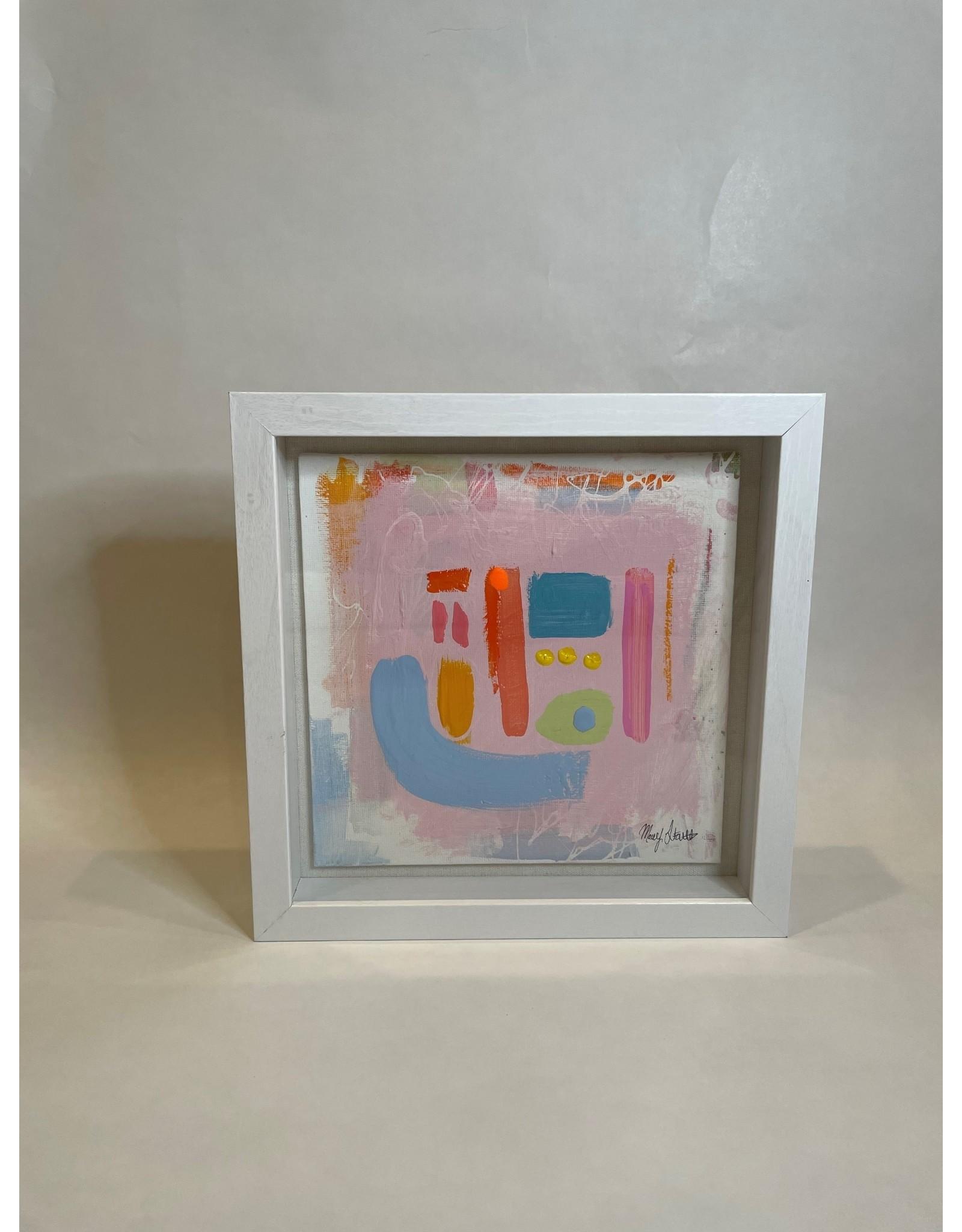 Pink Shadow Box Abstract 2