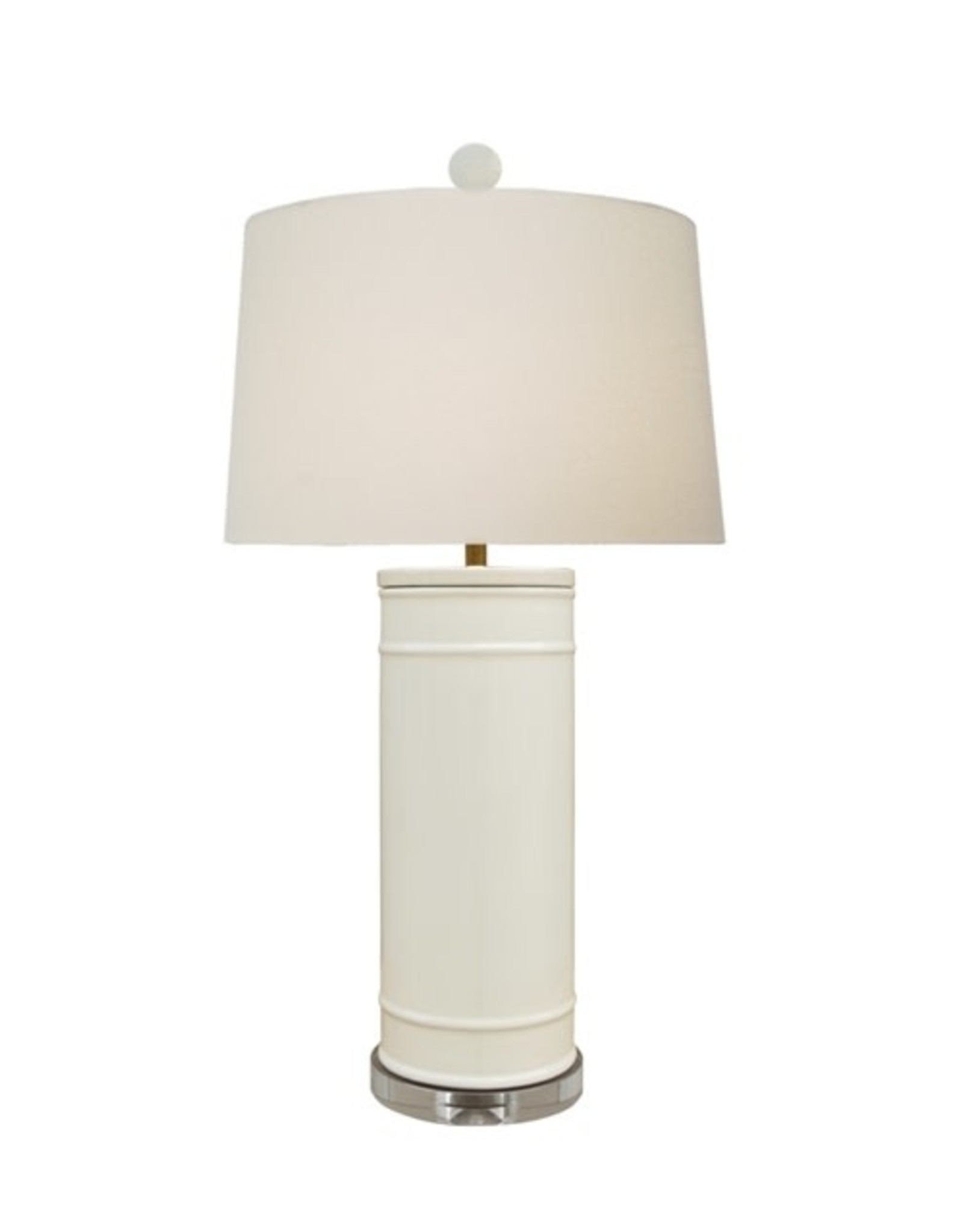 Oak + Arrow Interiors Porcelain Dove White Vase Lamp