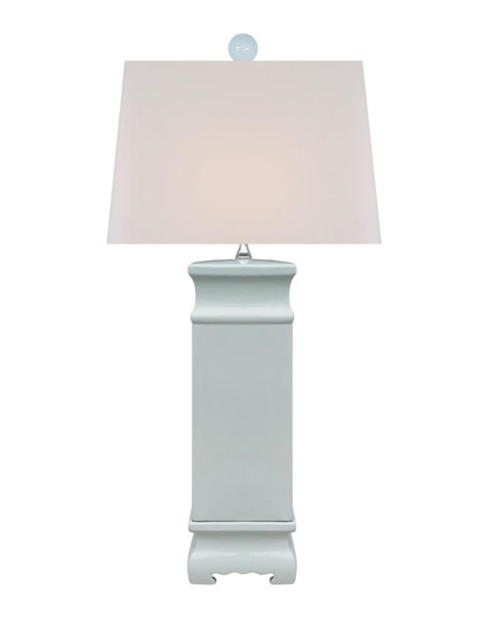 Oak + Arrow Interiors Palladian Blue Square Lamp