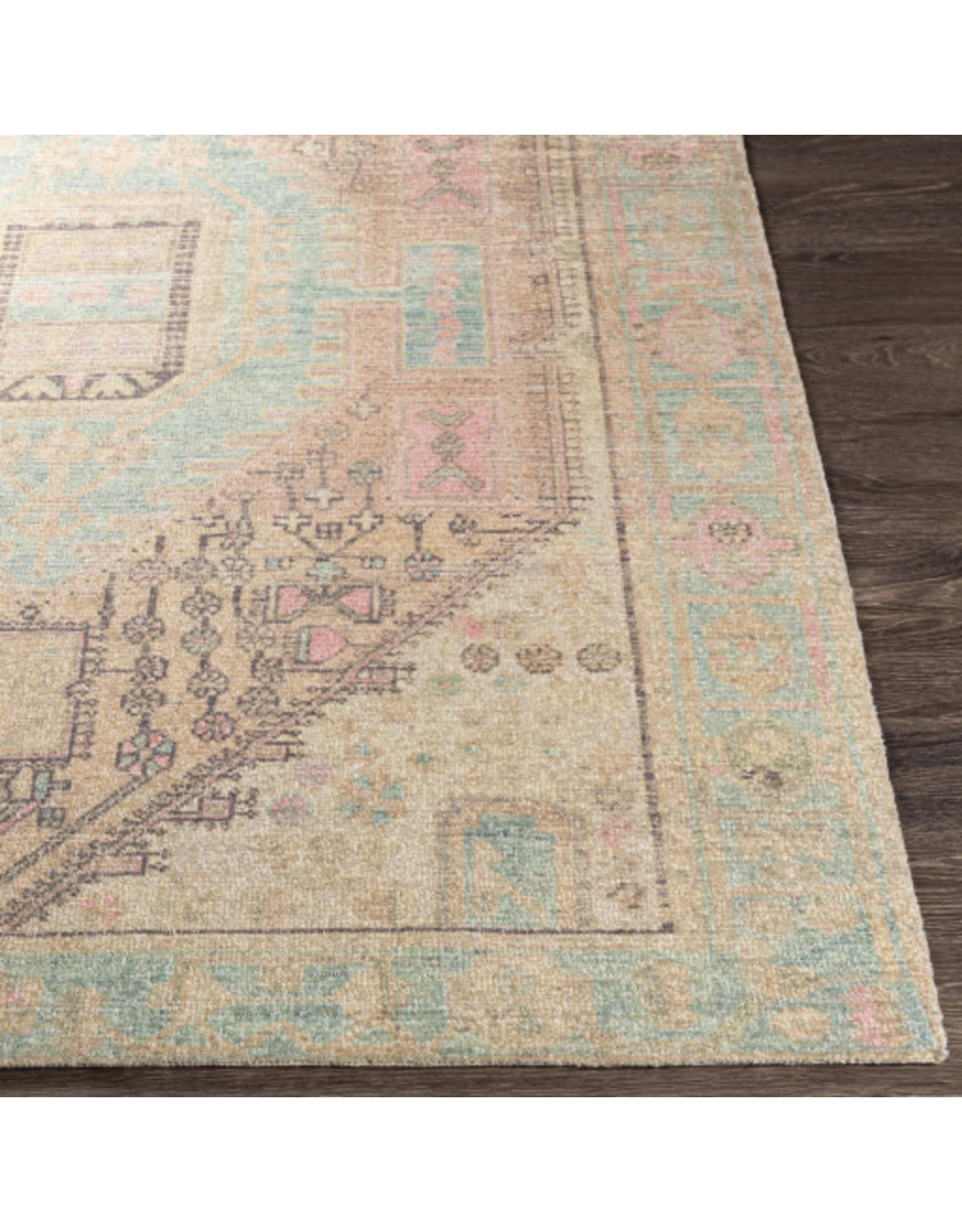 Oak + Arrow Interiors Unique Rug - Pink and Lime 2'x3'