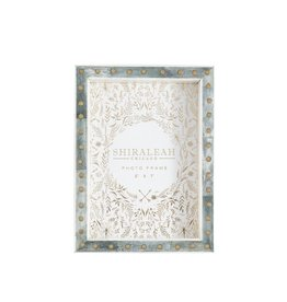 """GRANADA STUDDED 5"""" X 7"""" PICTURE FRAME, JADE"""