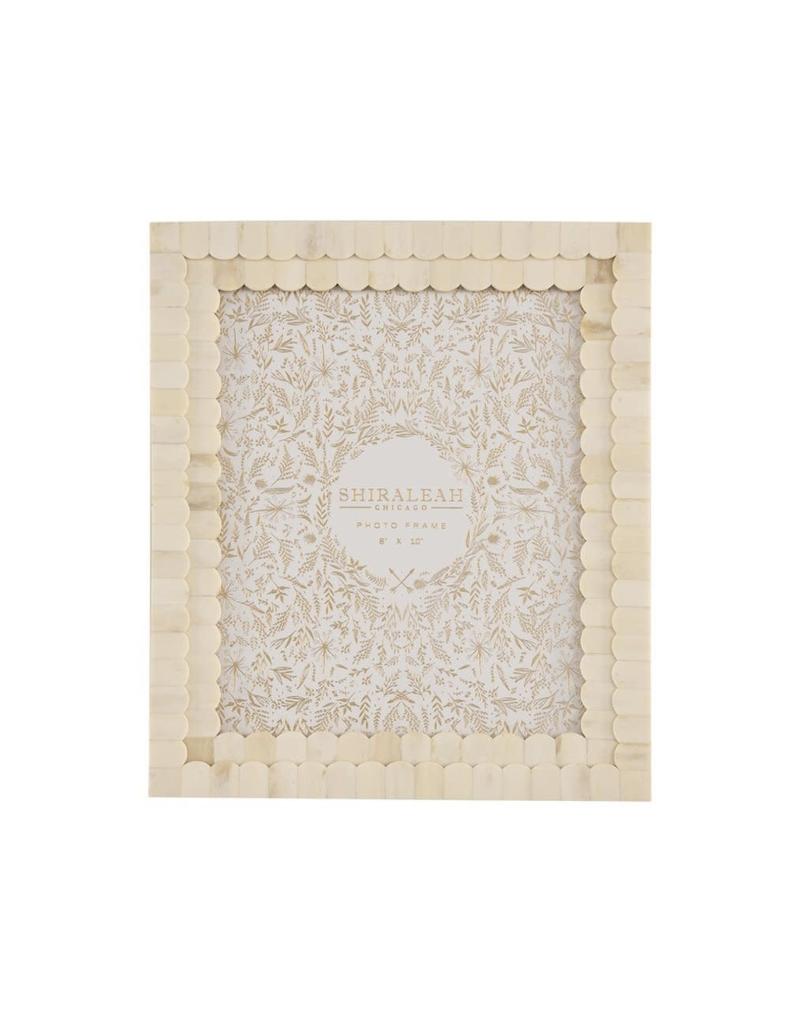 "MANSOUR SCALLOPED 8"" X 10"" GALLERY FRAME, IVORY"