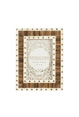 MANSOUR TWO-TONE 4X6 PICTURE FRAME, MULTI